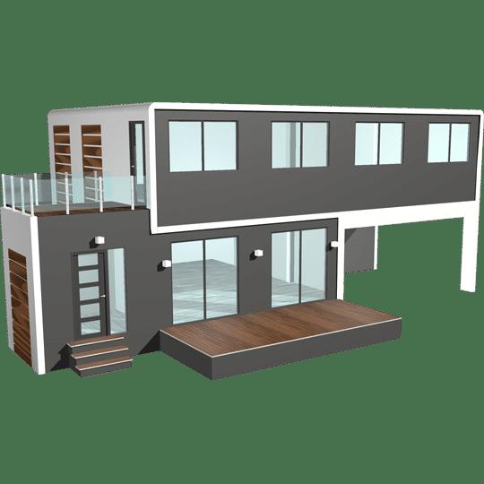 module maison préfabriquée solhab famille 155